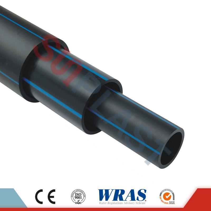 জল সরবরাহের জন্য কালো / নীল রঙের HDPE পাইপ (বহু পাইপ)
